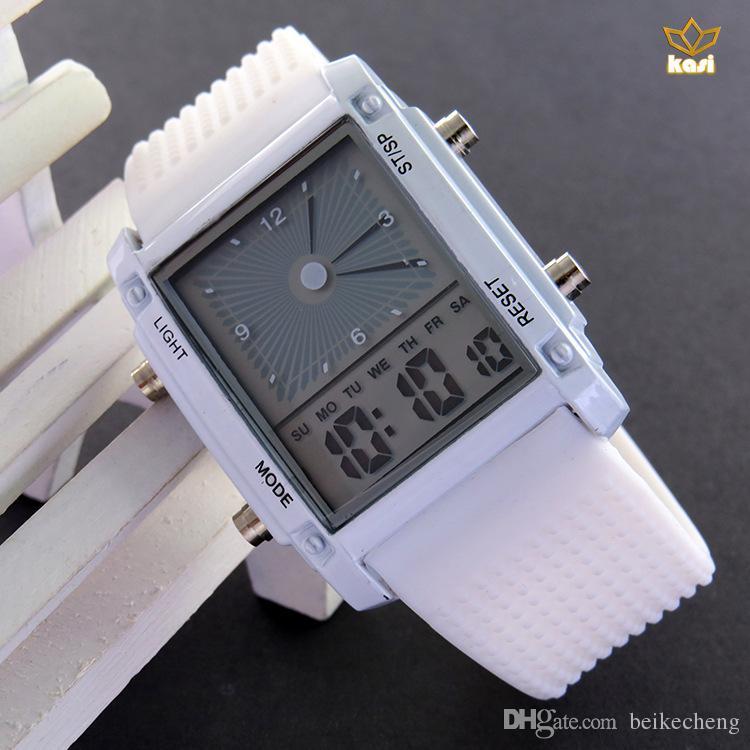 Il modo all'ingrosso degli orologi / guarda la vigilanza elettronica principale LW011 del silicone di sport della vigilanza digitale fresca del flash