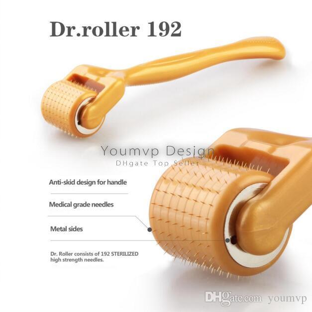 New 192 needles derma roller ultra-sharp titanium alloy needles Dr.roller-192 Microneedle roller 0.2MM-3.0MM
