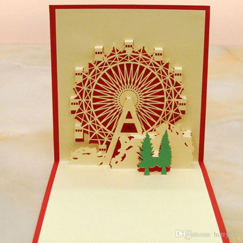 3d happy ferris wheel christmas cards greeting handmade paper card 3d happy ferris wheel christmas cards greeting handmade paper card personalized keepsakes postcard for wedding birthday holiday greeting cards homemade m4hsunfo