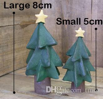 MOQ Church/Christmas Tree/ Snowman/Santa Claus Decoration Fairy Garden Miniatures Plastic Crafts Resin Christmas Ornament Anime figure