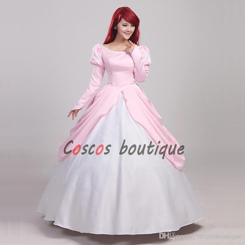 4046713851b Acheter La Petite Sirène Princesse Ariel Robe Rose Adulte Danse Robe De Bal Robe  Pour Les Enfants Partie De  79.18 Du Magicboutique