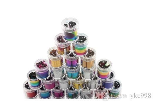 Sky MIXED Nail Foil Sticker Mix Farbe Wrap Nail Decals Tip Sternenhimmel MIXED GLITZY Nail Art Nail Tip Dekoration Easy Adhesive Craft Shine