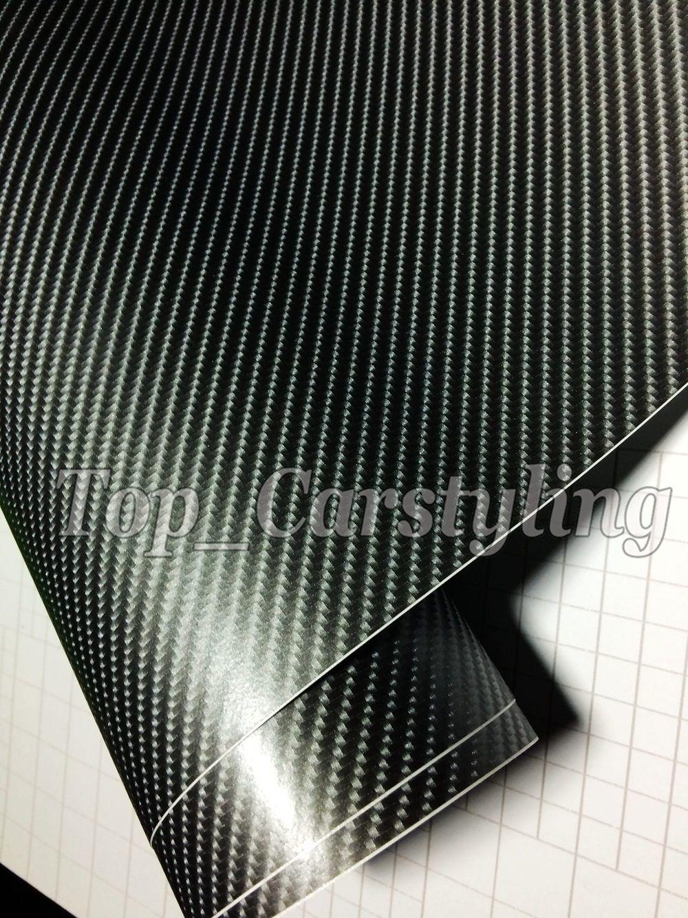프리미엄 Gunmetal 4D 탄소 섬유 VINYL WRAP STICKER 공기 버블 무료 CAR BIKE / 공기 방출 자동차 / 보트 / 테이블 덮음 1.52x30m / Roll 5x98ft