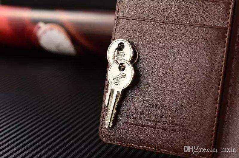 Hanman Genuine Leather Wallet Flip With Lanyard Case For iPhone 5 SE 6 6S 7 Plus Samsung Galaxy S6 S7 Edge Note J5 J7 2016 Retail Package