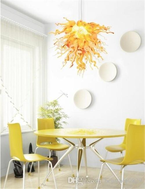 LR1075-Italian Style Handmade Glass Crystal Chandelier Smart Art Glass Hotel Lobby Decorative Chain Hanging Chandelier Home Decor LED Light