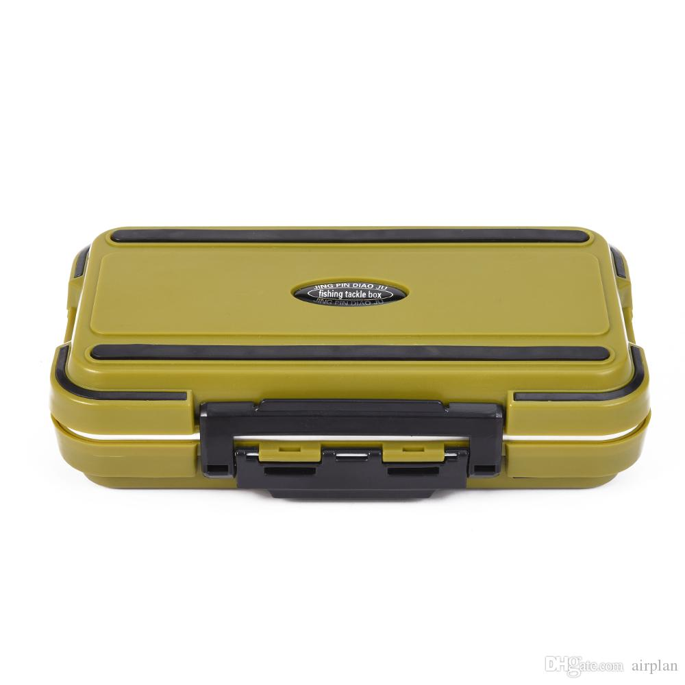 New Arrival 24 Compartments Double Layer 16*9*5cm Plastic Fishing Tackle Box Fishing Box Lure Fishing Box de pesca