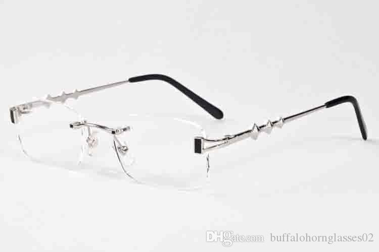 2017 élégant marque buffle corne lunettes de soleil pour hommes femmes grand cadre millésime rétro rose violet lentille transparente plusieurs lunettes de soleil sans monture avec boîte