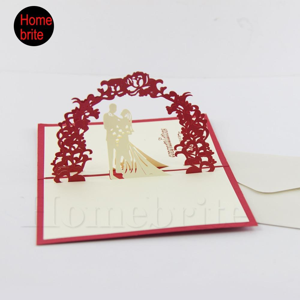 Wholesale Wedding Invitation 3d Pop Up Lovers Paper Card With