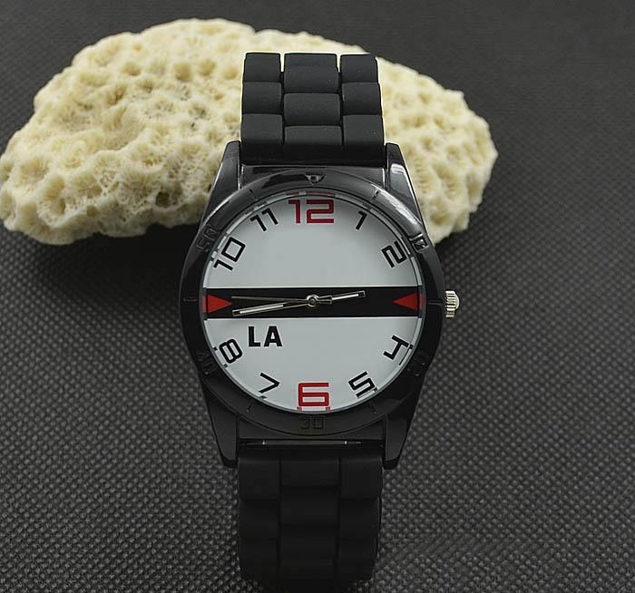 캐주얼 여성 남성 Unisex 동물 악어 스타일 다이얼 실리콘 스트랩 아날로그 쿼츠 손목 시계