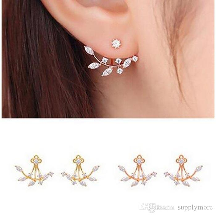 gold copy plated real diamond silver online vorra of earrings square stud buy fashion product