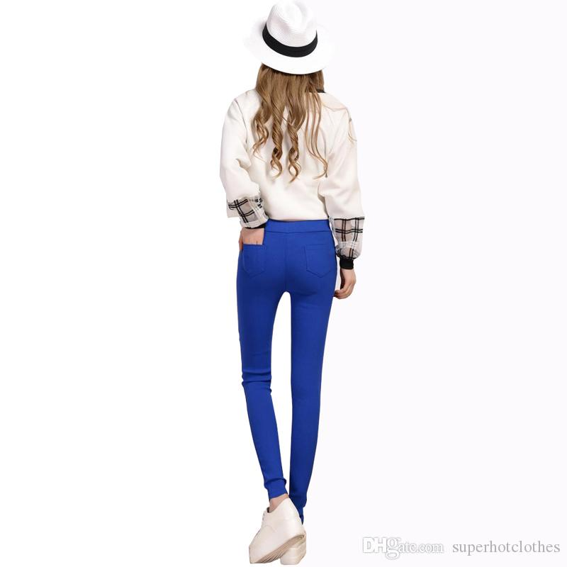 0a6544794a1 2018 2016 Spring Autumn Fashion Plus Size S 3XL Women Jeans Candy Color  Casual Pencil Pants Women Skinny Sexy Long Trousers From Superhotclothes