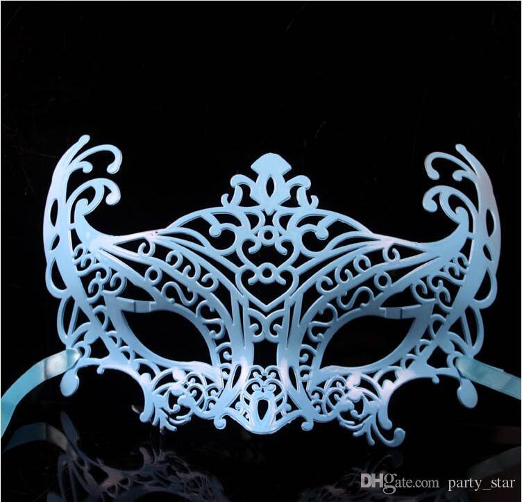 Venta caliente Hombres Hollow Party Mascarada Máscaras Halloween Half Face Masks Príncipe Princesa Performance Venetian Carnival Masks