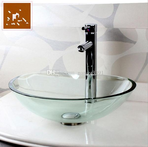 Wash Basin Glass Bathroom Clean utensils Tempered glass Chinese Products Sink Heart shape Wash basins Washing basin Sink