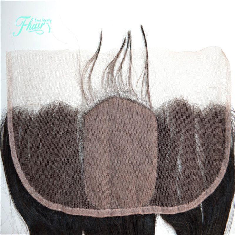 9A Malaysisches Haar tiefe lockige Seide Basis Frontal Haar frei Teil Spitze Frontal mit Baby-Haar 13x4 Spitze Frontal Schließung gebleichte Knoten