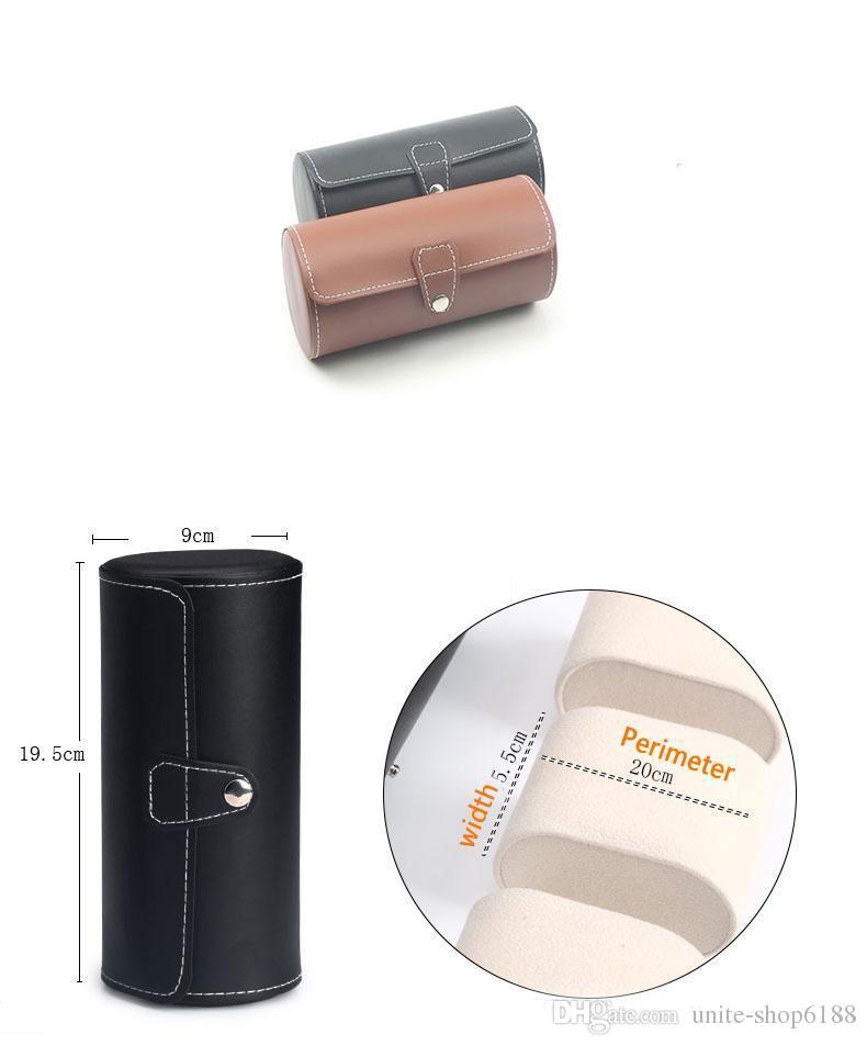 ПУ коры головного мозга 3 позиции круглые часы коробка ручной цепи коробка ювелирных изделий счетчик дисплей boxs