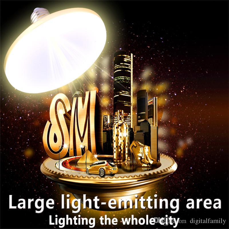La puissance élevée E27 LED ampoule 20W 30W 50W 60W Bombilla a mené la lampe E27 220V Spotlight Ampoule Lampada Leds lumière pour la maison blanc froid