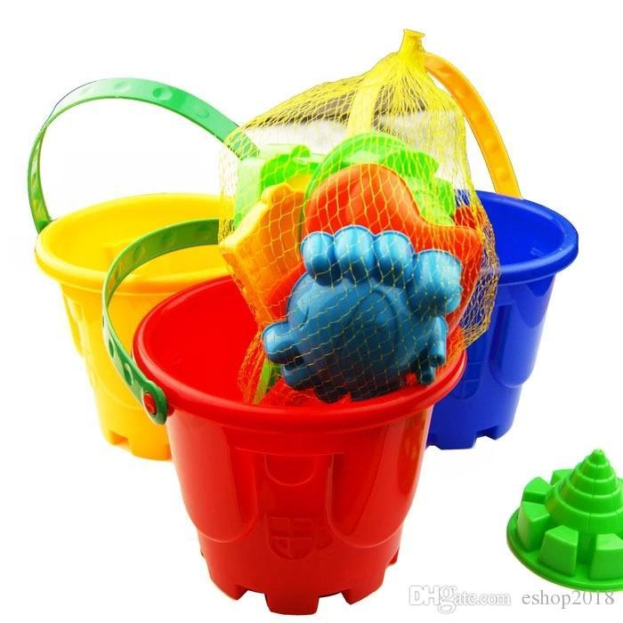 2016 Funny Gift Set of 7 Winter Summer Seaside Beach Toy Child Spade Rake Bucket Kit Sand Snow Building Molds for kids