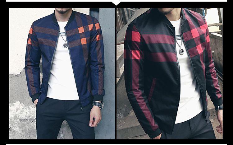 2017 New Fashion Brand Jacket Men Winter Autumn Slim Fit Mens Designer Clothes Red Men Casual Jacket Slim Plus Size M-5XL