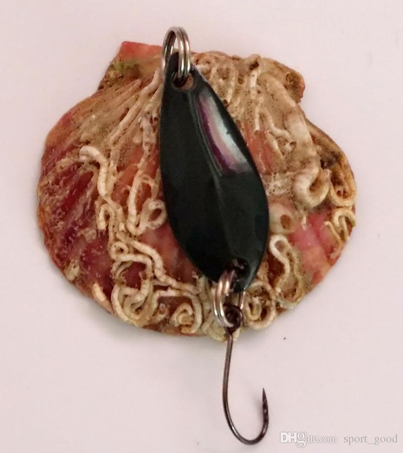 Señuelos de pesca cebo lentejuelas de boca de caballo 3g tipo cuchara lentejuelas de un solo gancho corrientes de cebo biónico cebo de pesca para la venta