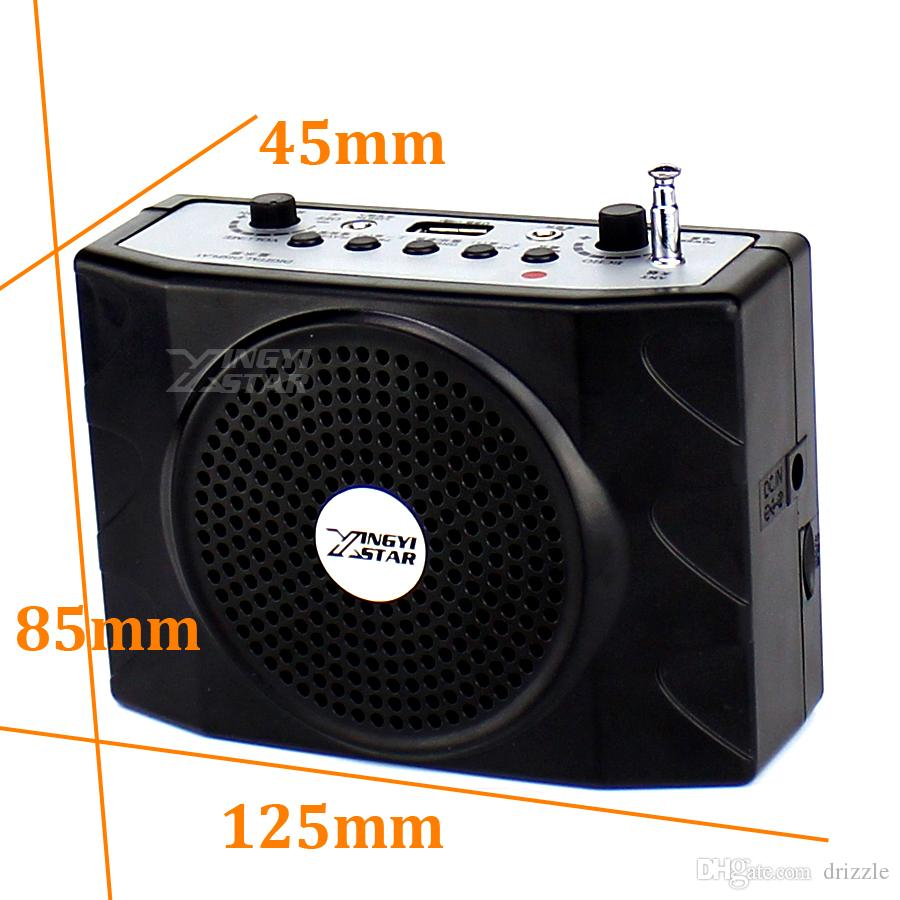 Loudspeaker With Headset Microphone Voice Amplifier Audio Booster Megaphone Portable Speaker USB Music MP3 Player Teaching Tour Guide
