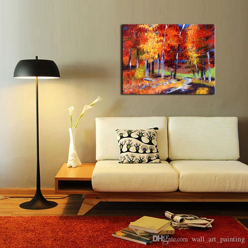 2018 1 Picture Combination Maple Grove Street Oil Painting Modern ...