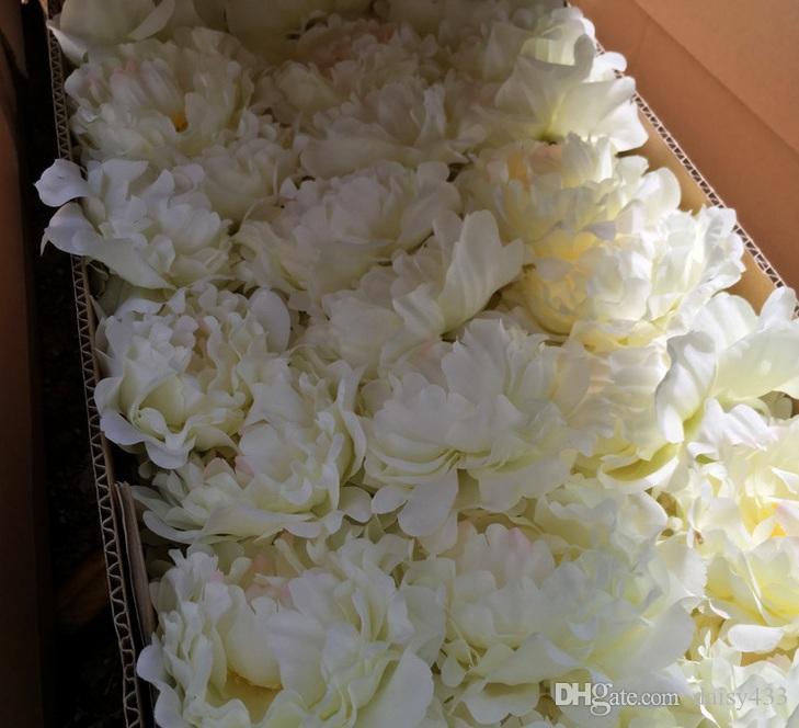 Yüksek kalite 15 cm Ipek Şakayık Çiçek Başkanları Düğün Parti Dekorasyon Yapay Simülasyon Ipek Şakayık Kamelya Gül Çiçek