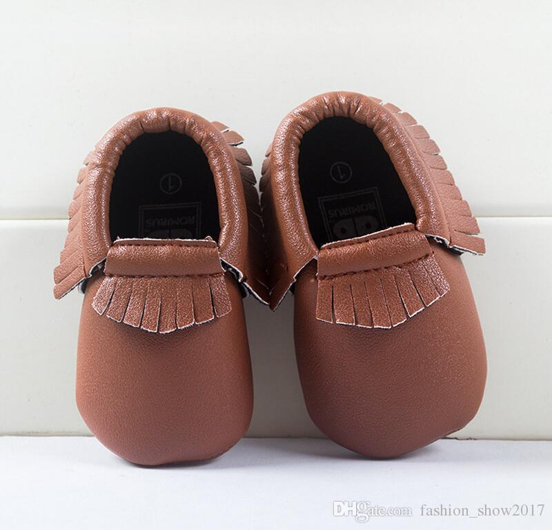 Baby leather moccasins tassels boot booties moccs infant girl boy leather shoes prewalker booties toddlers shoes