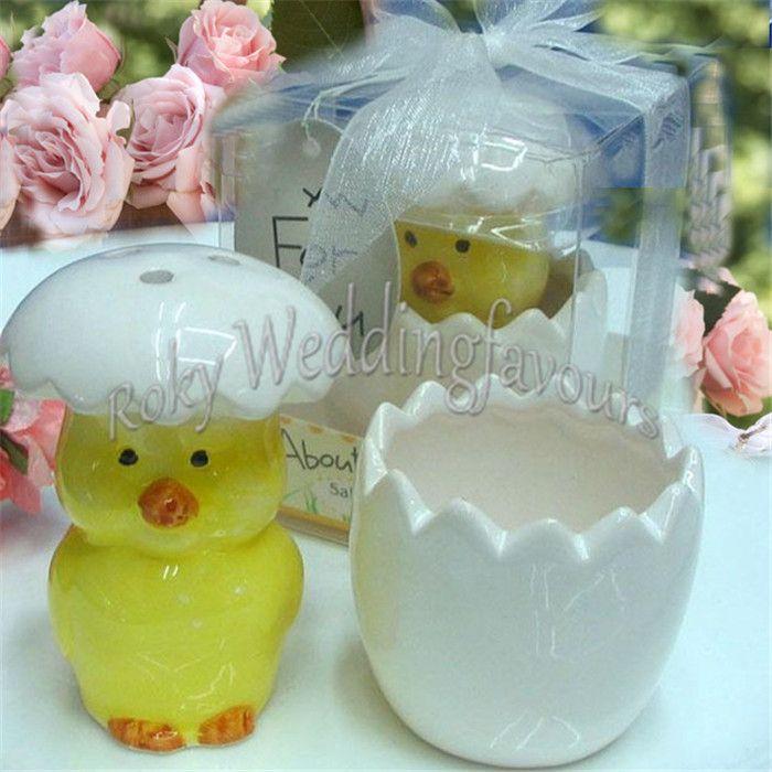Dhl Ceramic Baby Chick Salt Pepper Shaker Super Cute Baby Shower