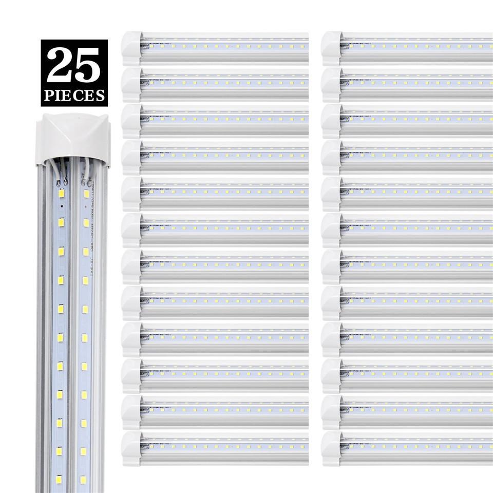 Сток в США + 4FT 5FT 6FT 8FT LED TUBE Light V Форма Встроенные светодиодные трубки 8 FT Охладитель Двери морозильная камера Светодиодное освещение
