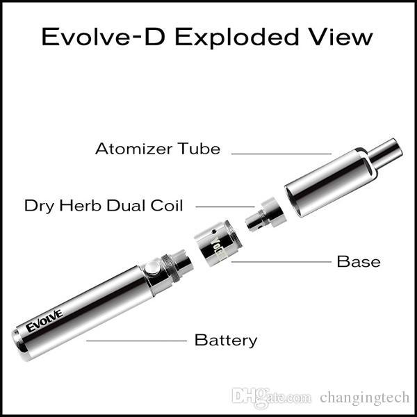 Auténtico Yocan Evolve-D Pancake Dual Coil para Evolve-D Dry Herb Vaporizer Pen Kit / pack DHL Free