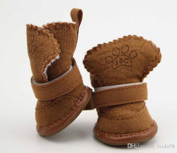 Scarpe Pet Classic cani Gatti Winter Small Dog Stivali antiscivolo Yorkshire Snow Boots Chihuahua Supplies Pet Products G1079