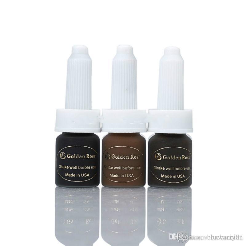 3 Bottles New Beauty Semi-Permanent Makeup Pigment 5ML/Bottles Eyebrow  Tattoo Ink Hot Sale Free Shipping