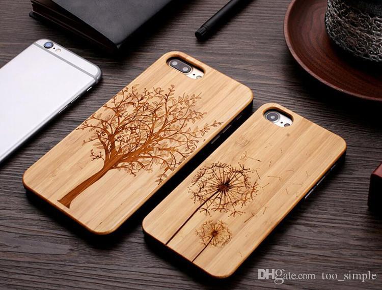 Samsung Galaxy S20 S10 Artı Not 10 için iphone 7 8 iPhone 11 Pro Bambu Özel Tasarım Kılıf Ahşap Kasa Darbeye İçin