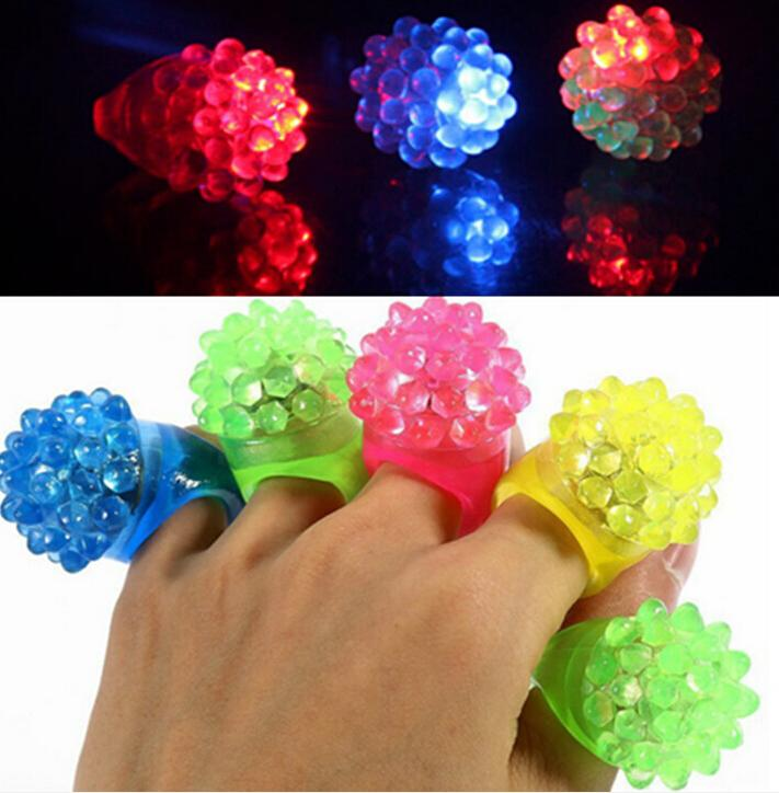 LED Soft Jelly Leuchtende Dekorative Fingerringe Licht Blink Ring Licht Weihnachten Party Geburtstag Kinder Kinder Licht-up Spielzeug 02 #