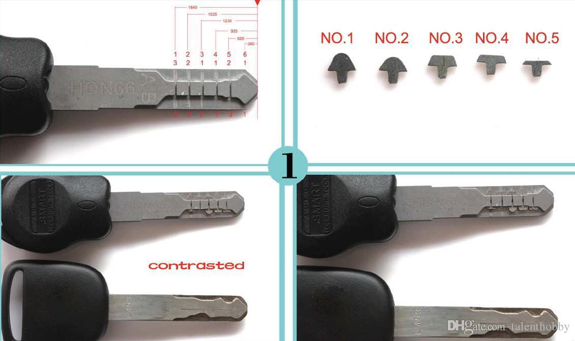 Nova ferramenta de combinação de chave de carro tipo HON66 Auto ferramentas de reestruturação de chave Chave moldes grampos escolher ferramenta ferramentas de serralheiro