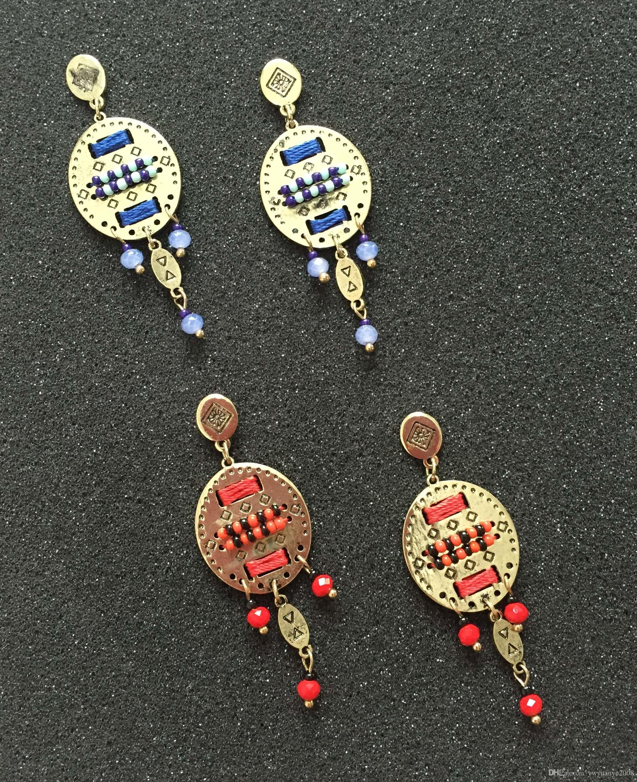 Best new delicate superbeads bohemia chandelier earrings with glass best new delicate superbeads bohemia chandelier earrings with glass beads dangles ethnic style tiny beads earrings thread wired factory design under 097 arubaitofo Gallery