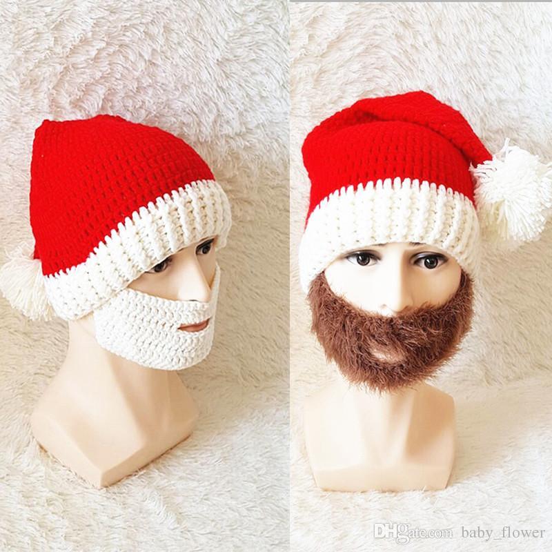 Compre Invierno Chunky Ganchillo De Navidad Hat Vogue De Punto De ...