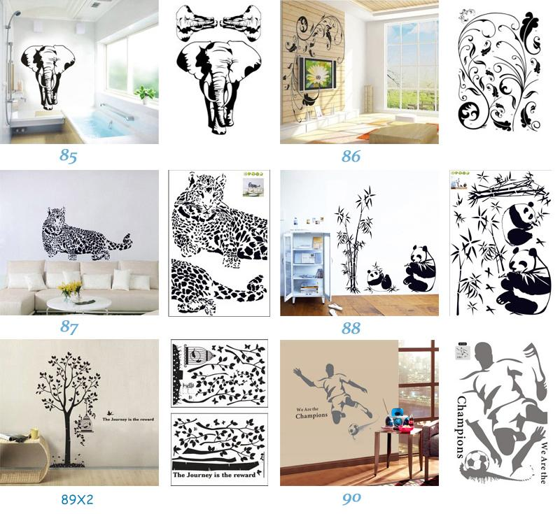 Removable Wall Art Stickers Nursery Wall Decor 60x90cm Kids Room Wall Decals Large Wallpaper Stickers