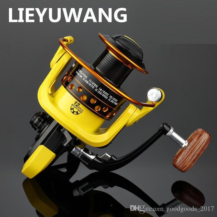 Geschwindigkeitsverhältnis 5,2: 1 Metall Spinning Fishings Reel HD1000-7000 Spinnrollen Ocean Sea Boat Ice Angelgerät Aluminium FISHING 12 axis K002