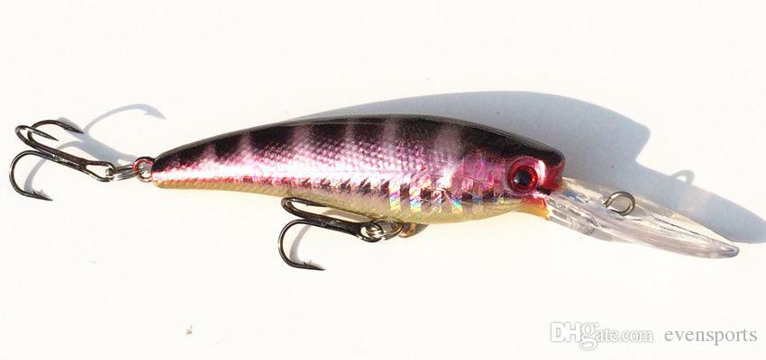 Fishing Minnow Lure Hard Bait Long Mouth Tongue Artiricial Lures Floating Wobblers 1.5-3.5m Dive Depth