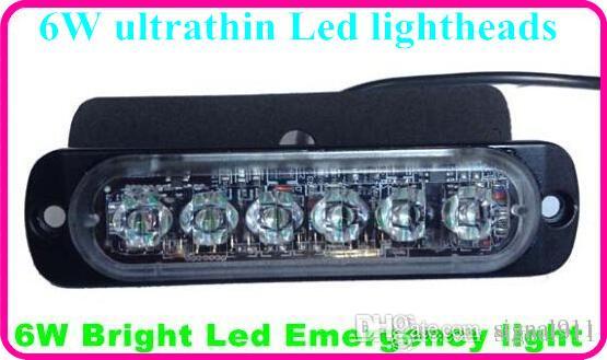 DC10-30V 6 * 3W der hohen Intensität führte Autooberflächenwarnlichter, Röhrenblitzlicht-Leuchtköpfe, Notlicht, wasserdicht
