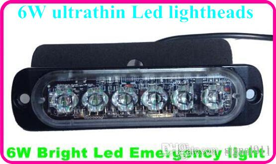 High intensity DC10-30V 6*3W Led car surface warning lights,strobe lights lightheads,emergency light,waterproof