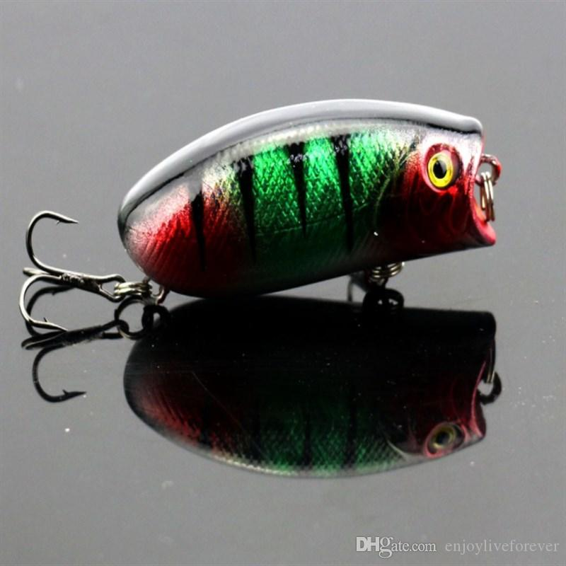 3D Eyes Lifelike Fishing Lure 5.5cm 8# Hooks Popper Fish Fishing Baits 11g Wobbler Artificial Swimbait Hard Bait