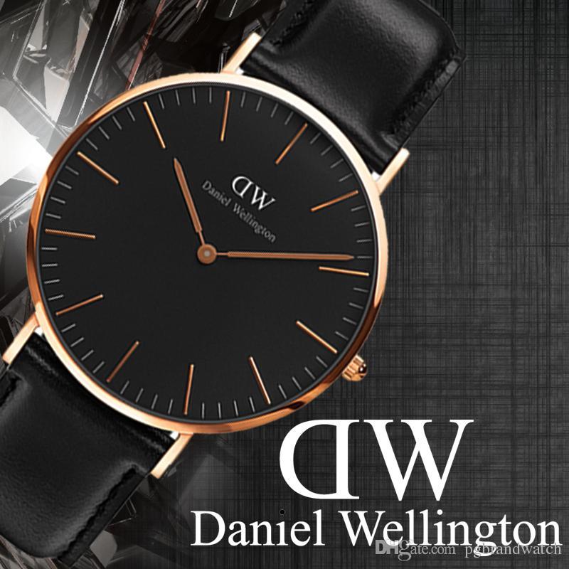 Daniel Wellington Uhren der neuen Männer der Männer 40mm Männer Uhren 36 Frauen Uhren DW Quarzuhr Weibliche Uhr Relogio Montre Femme