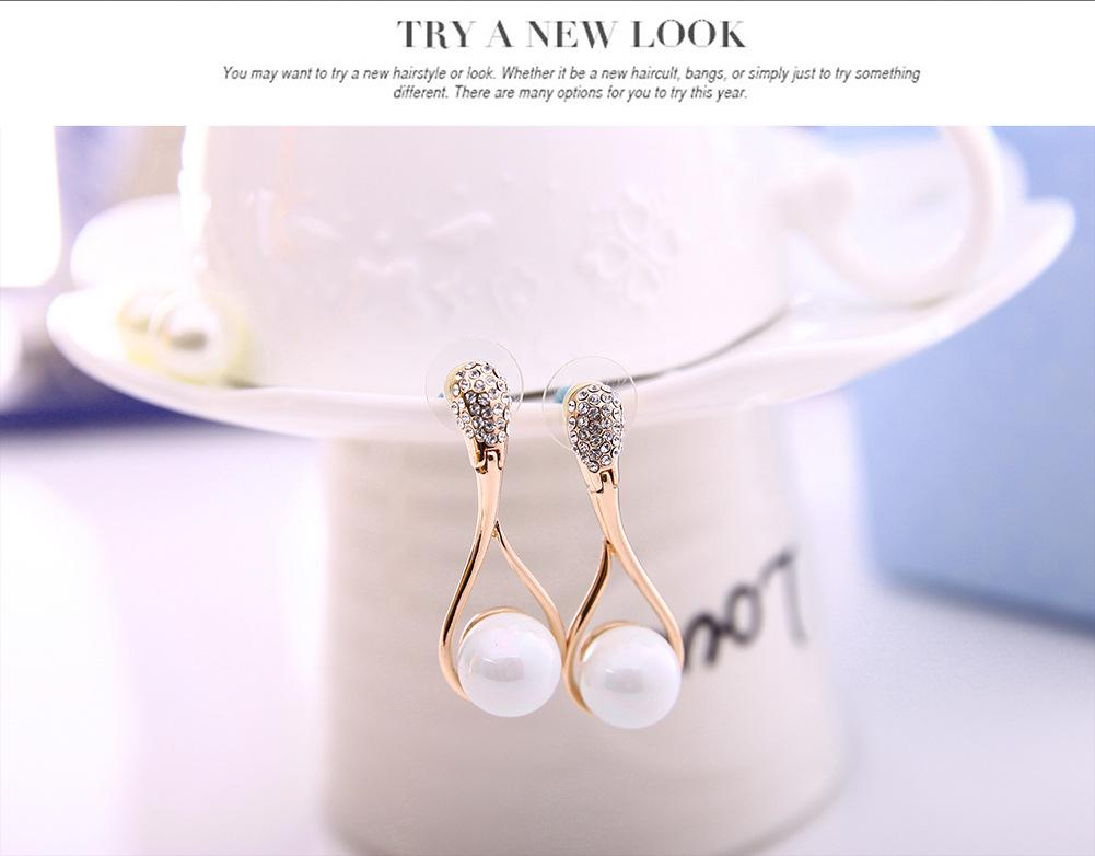 Fashion 18KGP Pearl Necklace Earrings Jewelry Sets High Quality Pearl Necklace Sets For Women Best Gift Cheap Price Jewelry 61152230
