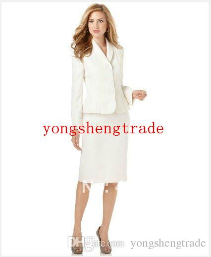 Women Suit Ivory Women Suit Shawl Collar Jacket & Skirt Accept Custom Women Suit Women Garment 688