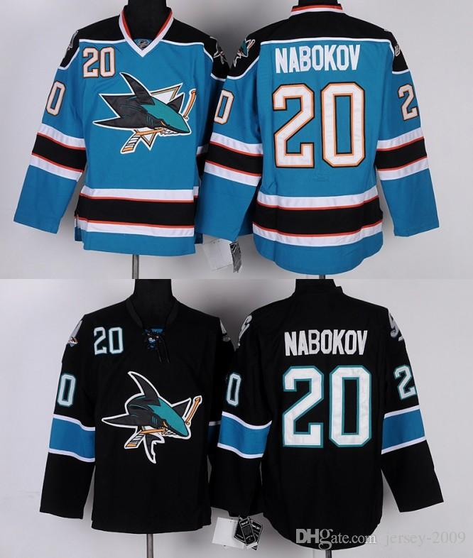 2016 Men S San Jose Sharks Hockey Jerseys  20 Evgeni Nabokov Jersey Home  Teal Green White Black Stitched Size S 3XL UK 2019 From Jersey 2009 b3a3bc7cd756