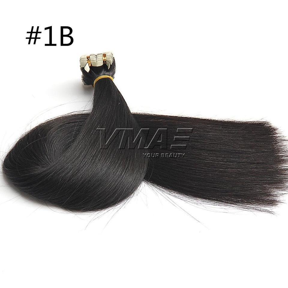 인간의 머리카락 확장에 테이프 2.5g / piece / 팩 원래 자연 원시 버진 브라질 피부 Wefts 테이프 머리 자연 색상 VMAE 머리카락