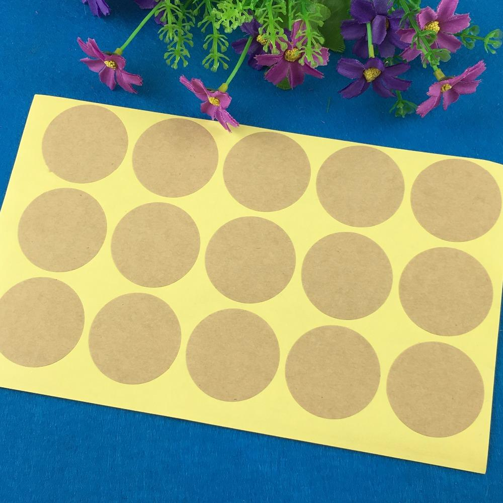 2018 wholesale 4cm round blank stickers kraft paper label adhesive labels envelope seals food label bakery cookie stickers printing from lifehello