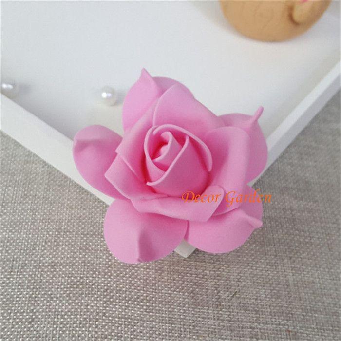 7CM 인공 장미 장식 PE 거품 꽃 머리 DIY 꽃 벽 결혼식 키스 볼 아치 장식 9 색